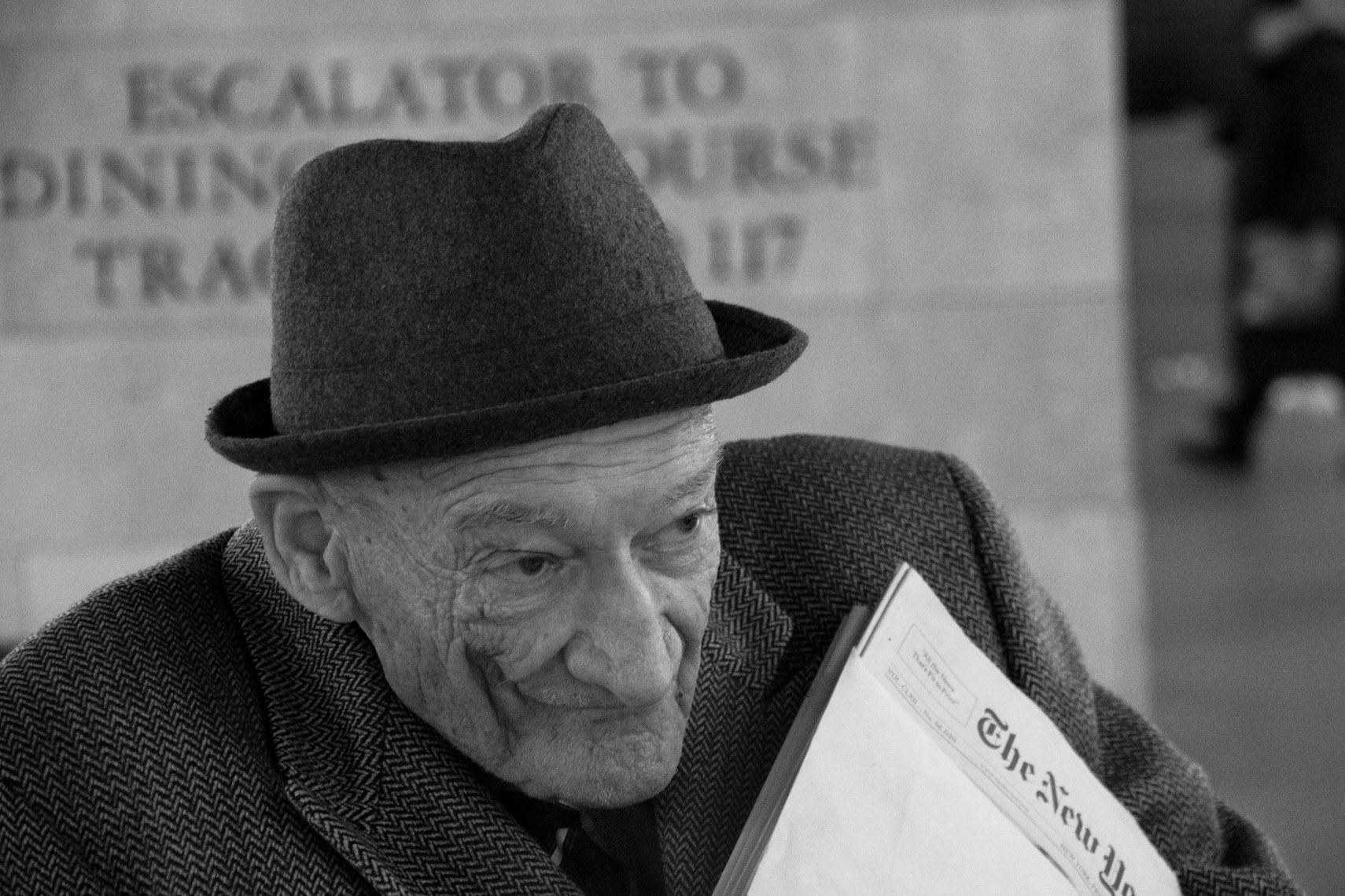 Old man with papers